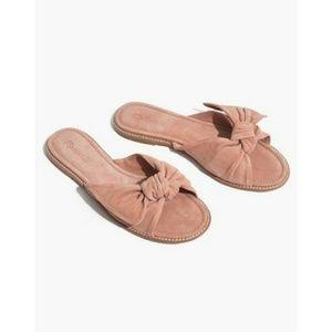 NIB Madewell Naida Half-Bow Sandal Dusty Clay Sz 9